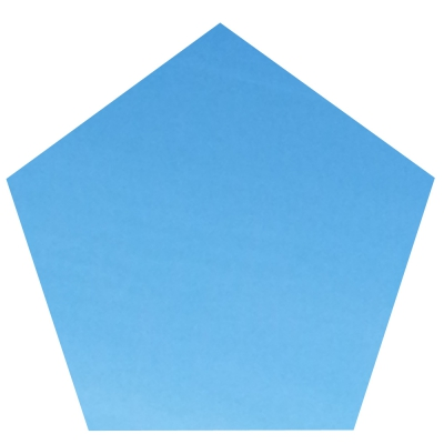 Blaues Fünfeck