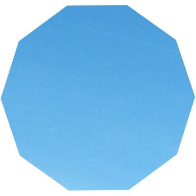 Blaues Zehneck