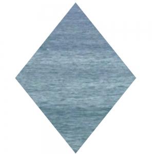 Blaue Raute, hochkant