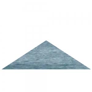 Blaues Dreieck, gleichschenklig