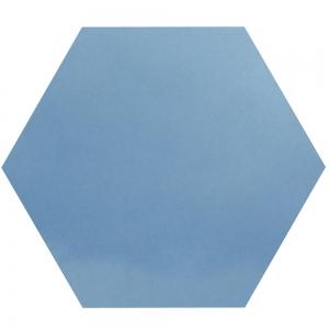 Blaues Sechseck