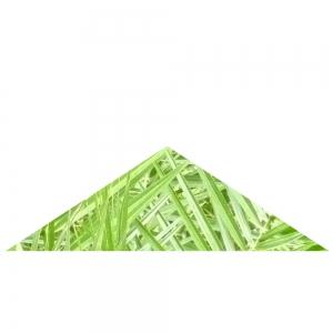 Grünes Dreieck, gleichschenklig